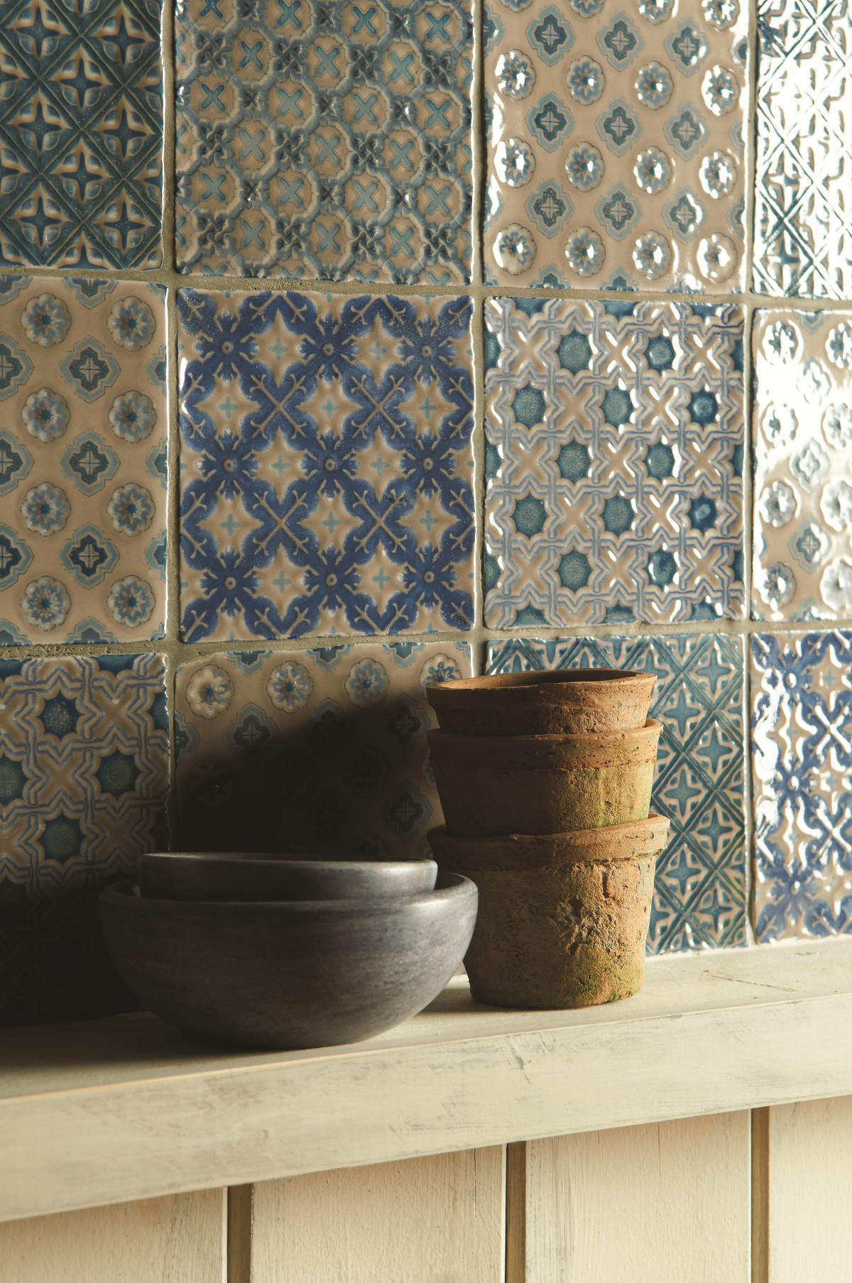 chateaux collection  pattern kitchen wall tiles  ireland